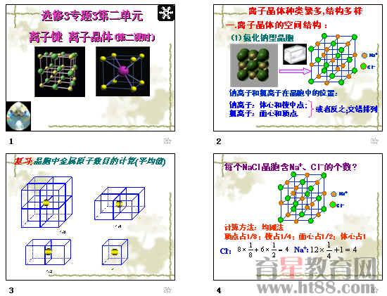 讲解离子晶体的空间结构