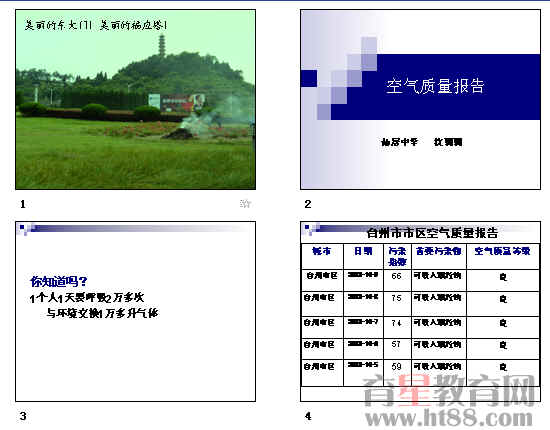 《空气质量报告》ppt1