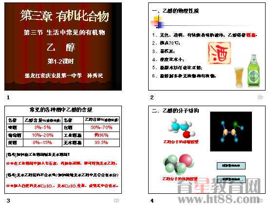 高中化学选修课件_生活中常见的有机物——乙醇ppt 人教课标版