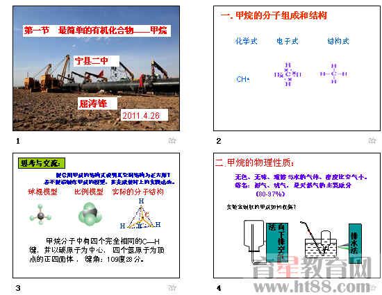 甲烷的立体结构图