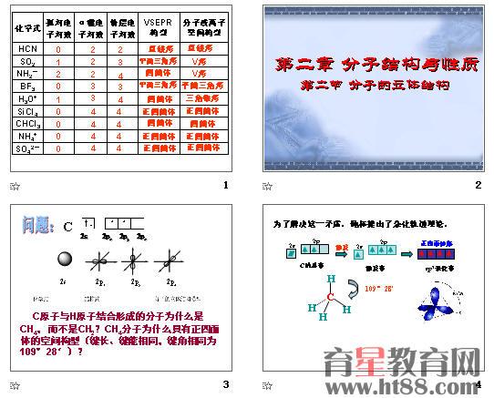 分子的立体构型ppt5 人教课标版