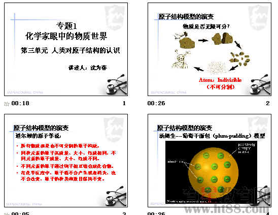 课件主要讲解了原子结构模型的演变